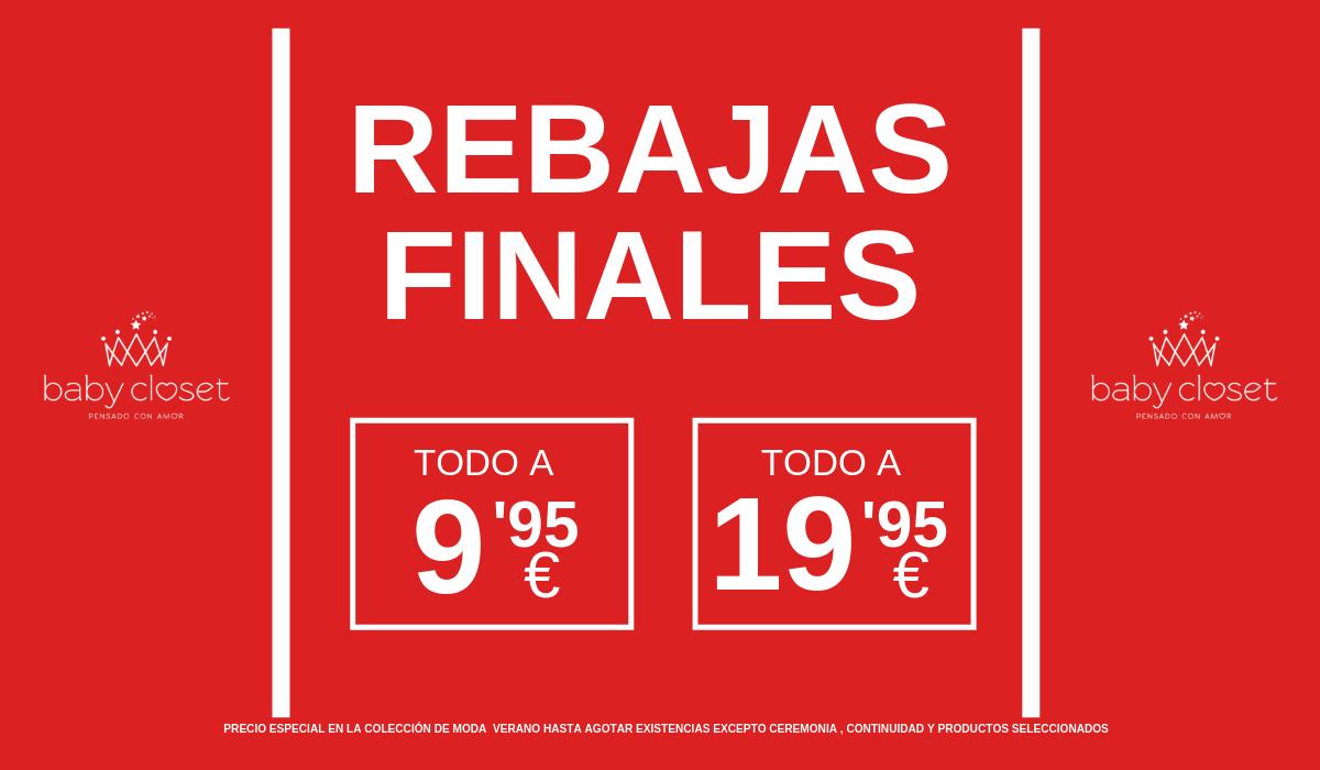 Ultimas rebajas de verano 2019, todo a 9,95 € y 19,95€